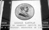 Commemorative coin with bust relief of George Eastman