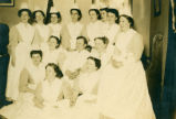 Group photograph of nursing students in 1908