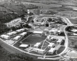 Campus aerial view ( South Hill campus ), Ithaca College, Ithaca, NY, from Northeast, taken...