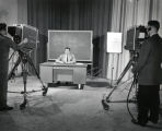Television studio, program on income tax (simulated), Ithaca College, Ithaca, NY, taken March 14,...