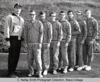 Men's cross-country varsity team, Ithaca College, Ithaca, NY, group picture, taken October 27,...