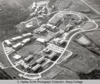Campus aerial view (South Hill campus), Ithaca College, Ithaca, NY,  from the Northwest, taken...