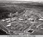 Campus aerial close view ( South Hill campus ), Ithaca College, Ithaca, NY,  from Northeast, taken...