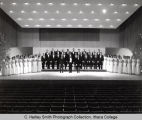 Choir, group picture, Ford Hall, Ithaca College, Ithaca, NY, taken December 20, 1966.