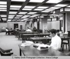 Library reading room, Ithaca College, Ithaca, NY, 1st floor, interior view taken November 1, 1965.
