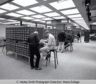 Library card catalog, Ithaca College, Ithaca, NY, 2nd floor of Library, interior view, taken March...