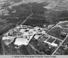 Campus aerial view (South Hill campus), Ithaca College, Ithaca, NY, from the North, taken...