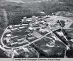 Campus aerial view ( South Hill campus ), Ithaca College, Ithaca, NY,  from Northeast, taken May ...