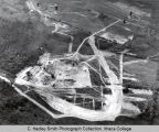 Campus aerial view (South Hill campus), Ithaca College, Ithaca, NY,  from the East, taken...