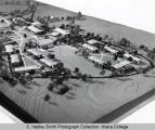 Campus architectural model (South Hill campus), Ithaca College, Ithaca, NY, photographed from the...