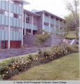 Residence hall, upper Quad, Rowland Hall, Ithaca College, Ithaca, NY, exterior view from the...