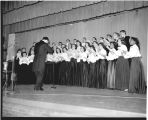 Mid-Century Convocation Choir concert, Ithaca College, Ithaca, NY, group  picture taken May 11,...