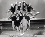 Women's gymnastics team, Ithaca College, Ithaca, NY, group picture, taken February 20, 1966.