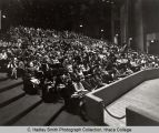 Audience in Hoerner Theatre, Ithaca College, Ithaca, NY, view from stage right, taken January 24,...