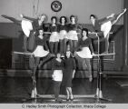 Women's gymnastics team, Ithaca College, Ithaca, NY, group picture, taken December 20, 1963.