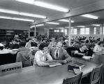 Library, Ithaca College, Ithaca, NY, interior view, taken December 14, 1953.