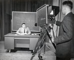 Television studio, program on journalism (simulated), Ithaca College, Ithaca, NY, taken March 14,...