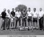 Men's golf team, Ithaca College, Ithaca, NY, exterior group picture, taken June 1, 1963.