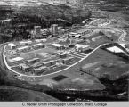 Campus aerial view ( South Hill campus ), Ithaca College, Ithaca, NY,  from Northeast, taken March...
