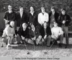 Men's golf team, Ithaca College, Ithaca, NY, group picture, taken April 13, 1971.