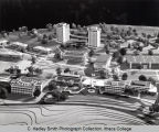 Campus architectural model (South Hill campus), Ithaca College, Ithaca, NY,  partial view,...
