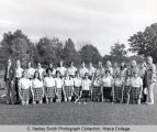 Women's field hockey team, Ithaca College, Ithaca, NY, group picture, taken October 2, 1972.
