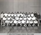 Women's lacrosse team, Ithaca College, Ithaca, NY, group picture, taken April 5, 1973.
