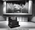 Ford Hall (Concert Hall), Ithaca College, Ithaca, NY,  interior view of stage with organ...