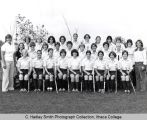 Women's field hockey varsity team, Ithaca College, Ithaca, NY, group picture taken September 18, 1976.