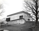 Ford Hall, Ithaca College, Ithaca, NY, exterior view from Northwest, taken December 26, 1964.