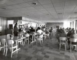 College Union (or Egbert Hall), Ithaca College, Ithaca, NY, snack bar interior view, daytime,...