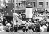 Spring Weekend parade float, Ithaca College, Ithaca, NY, corner State & Aurora Streets, from...