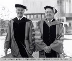 College President Phillips with President Emeritus Dillingham, Ithaca College, Ithaca, NY, close...