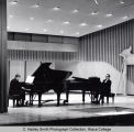 Performance of Stravinsky's Sonata for Two Pianos by College faculty at Stravinsky Festival,...