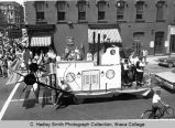 Spring Weekend parade float, St. Louis river boat,  Ithaca College, Ithaca, NY, corner of State...