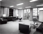 Ford Hall, Ithaca College, Ithaca, NY,  interior of Dean's office suite showing balcony, taken...