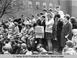 Spring Weekend parade reviewing stand, Ithaca College, Ithaca, NY, close view from the Northwest,...