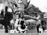 "Spring Weekend parade float, ""Caterpillar"", Ithaca College, Ithaca, NY, close view, ..."