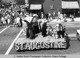 Spring Weekend parade float, St. Augustine, Ithaca College, Ithaca, NY,  corner of State &...