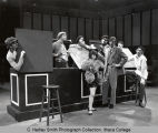"Scene from ""Irma la Douce"", view of performers on stage in Hoerner Theatre, Ithaca..."