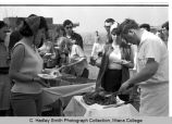 Spring Egbert Union  picnic serving line, Ithaca College, Ithaca, NY, group view from the South,...