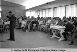 Fall Weekend Greek Sing 1968, Ithaca College, Ithaca, NY, audience, competitors & judges,...