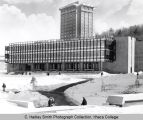 Library, Ithaca College, Ithaca, NY, exterior view from Northwest, taken February 8, 1966
