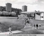 College Union (or Egbert Hall), Ithaca College, Ithaca, NY, exterior long view, taken from...