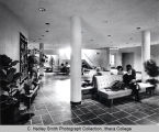 Ford Hall, Ithaca College, Ithaca, NY,  interior view of lobby, taken February 19, 1965