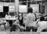 Students at International Fiesta, Ithaca College, Ithaca, NY, group view in Terraces dining hall,...