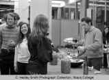 Students serving food & drink at International Fiesta, Ithaca College, Ithaca, NY, group...