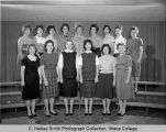 Wives Club, Ithaca College, Ithaca, NY, group picture, taken November 1, 1961
