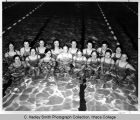 Women's swim team, Ithaca College, Ithaca, NY,  group picture in swimming pool, taken February 18,...