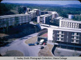 Terraces Dining Hall & Residences, Ithaca College, Ithaca, NY, elevated view from the...